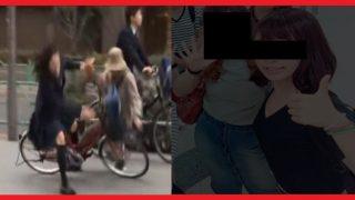 自転車事故の画像